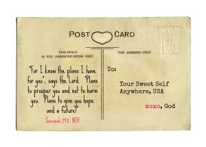 Jeremiah 29 11 Postcard