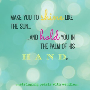 hold you in the palm of his hand
