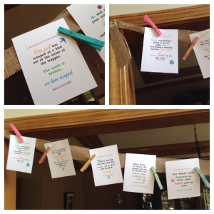 Burlap Ribbon with Scripture Cards