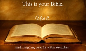 use your bible