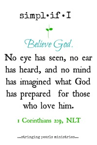 Believe God 1 Cor 2-9