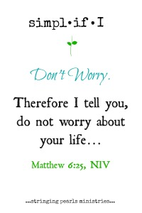 Don't Worry Matt 6-25