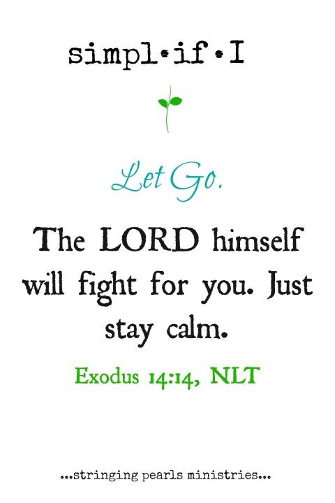 Let Go Exodus 14-14