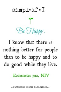 Be Happy Ecc 3-12