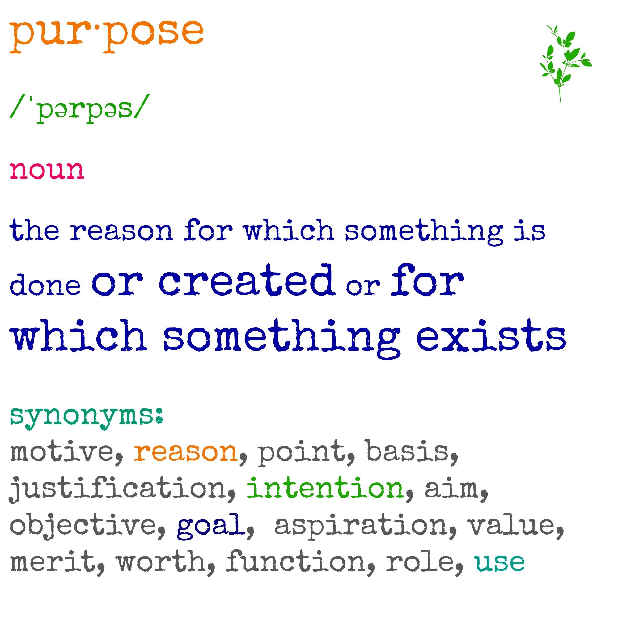 in purpose definition