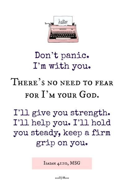 isaiah 41 10 scripture card
